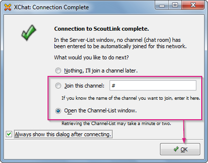 XChat: Connection Complete